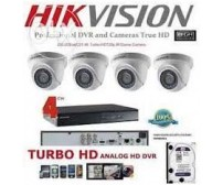 Paket CCTV AHD 4CH Hikvision+ 4 camera Dome/Outdoor 1,3Mp+HDD.500GB + Pasang+ Kabel 100 mtr